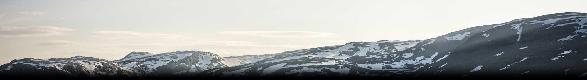 rolling snowy hills
